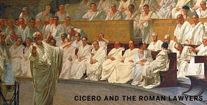 Cicero and the roman lawyers